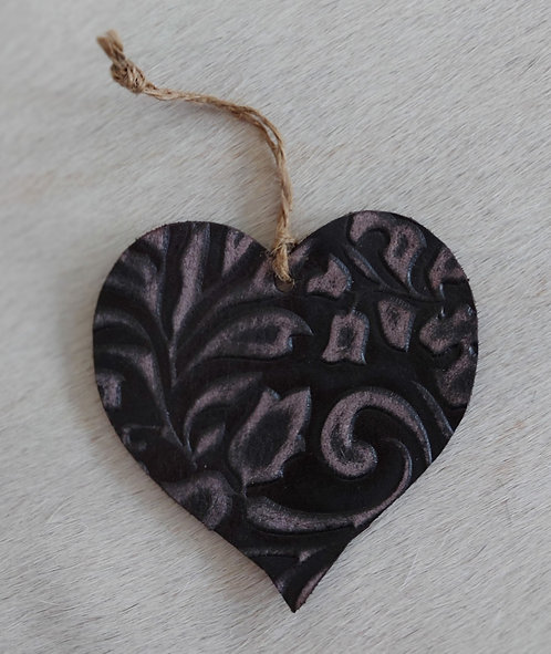 Double Sided Embossed Heart