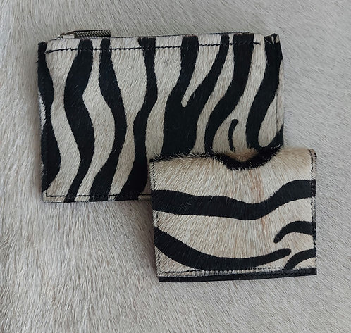 Coin and Card Holder -Zebra