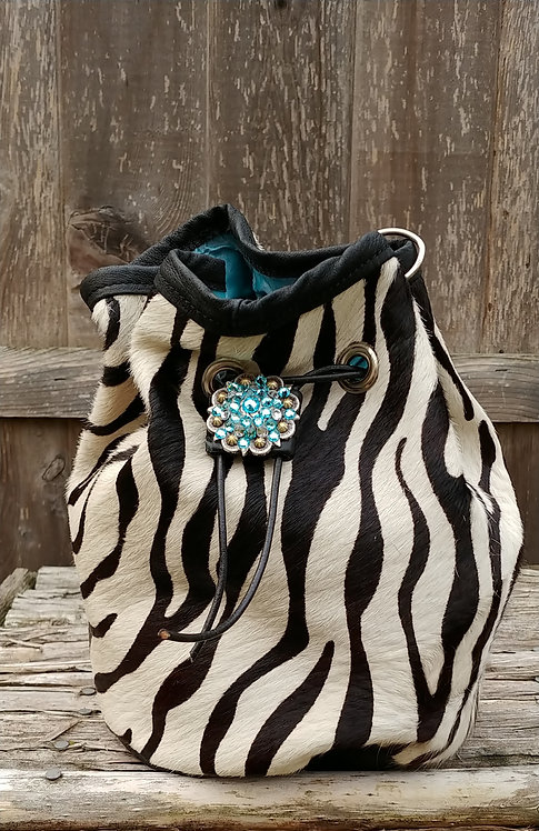 Clearance-Zebra Bucket Bag