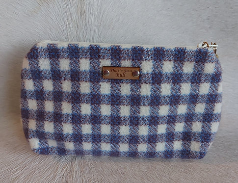 Vintage Wool Makeup Bags- Violet Plaid