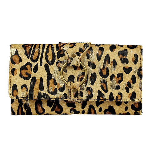 Leopard with Gold Acid Wallet