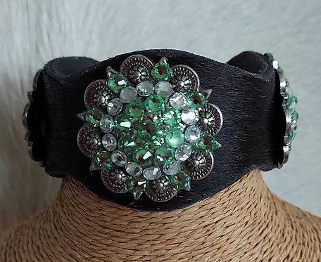 Cowhide Bracelet -Black Cowhide