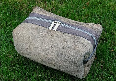 Large Makeup Bag- Taupe Brindle