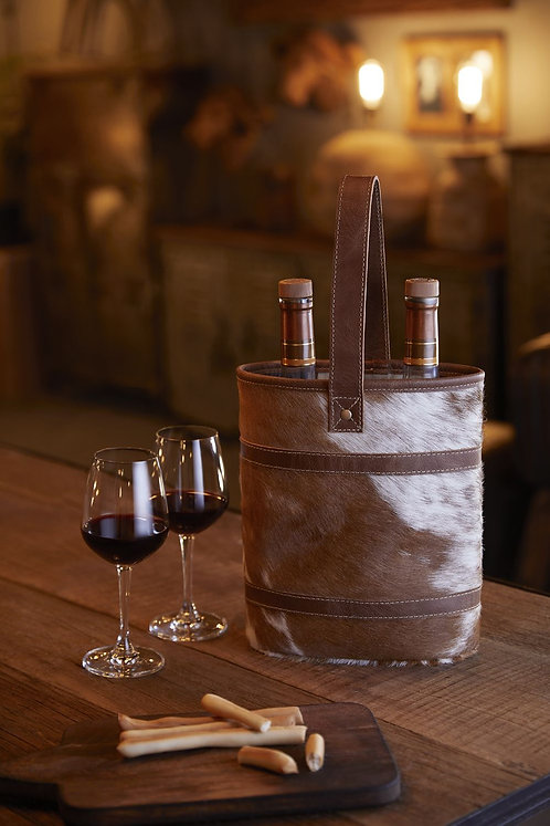 Wine Bags-Brown and White