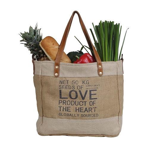 LOVE ORGANIC FABRIC MARKET BAG