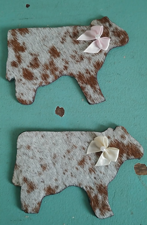 Cow Magnets- Brown and White S&P