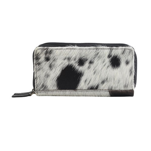 Black and White S&P Cowhide Wallet