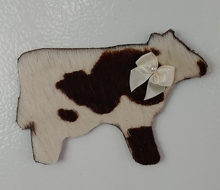 Cowhide Magnets=Brown and White