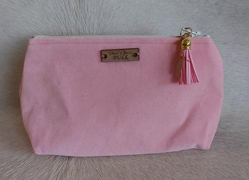 Vintage Wool Makeup Bags- Pink Velvet