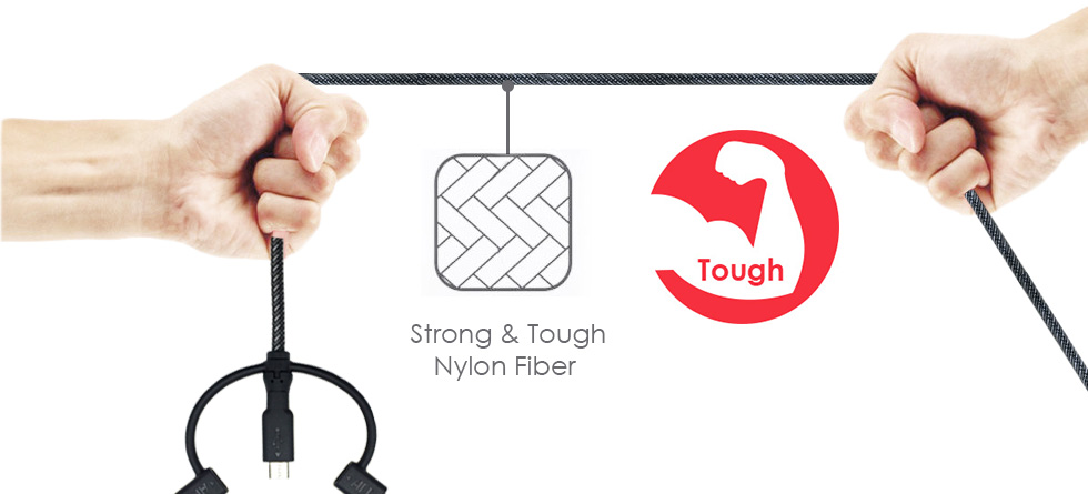 3-in-1 Kiosk Tough Braided Cable