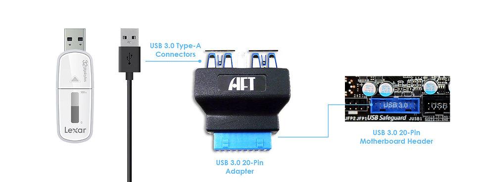 USB 3.0 20-pin Adapter