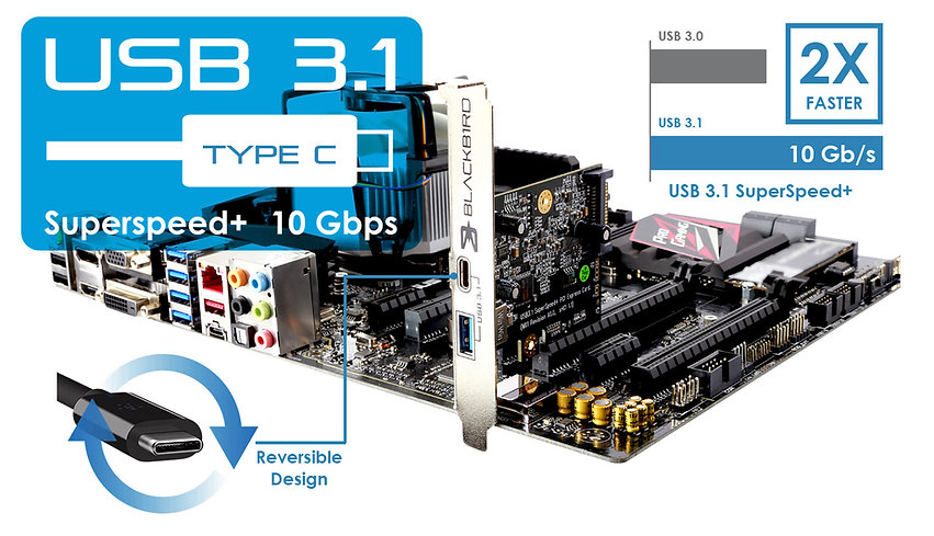 USB 3.1 Type-C PCIe Card
