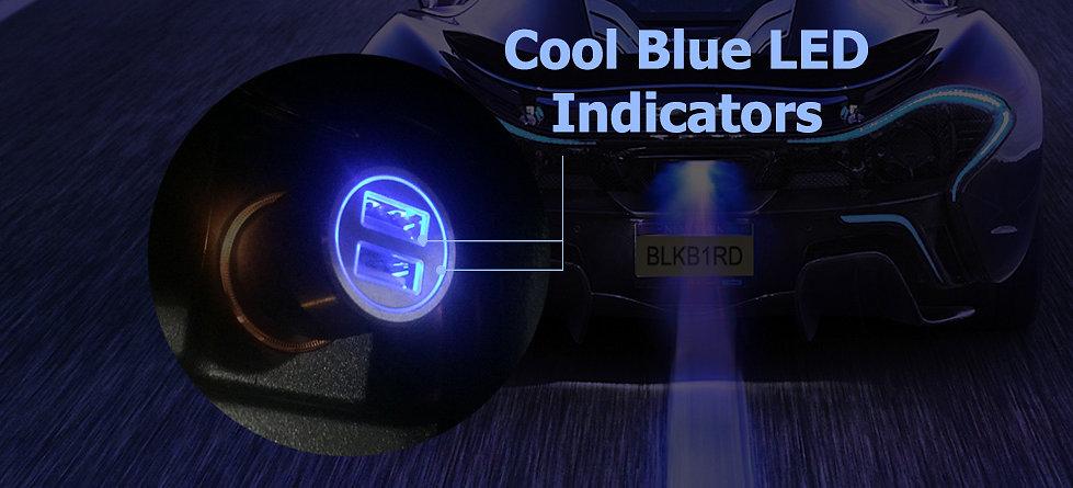 Dual USB Car Charger LED