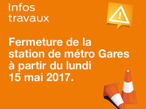 Fermeture station de métro Gares