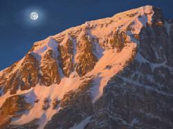 Moon Over Mount Jimmy Simpson