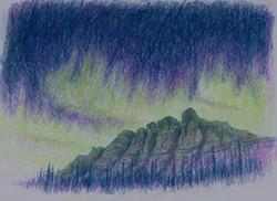 Aurora Over the Castle