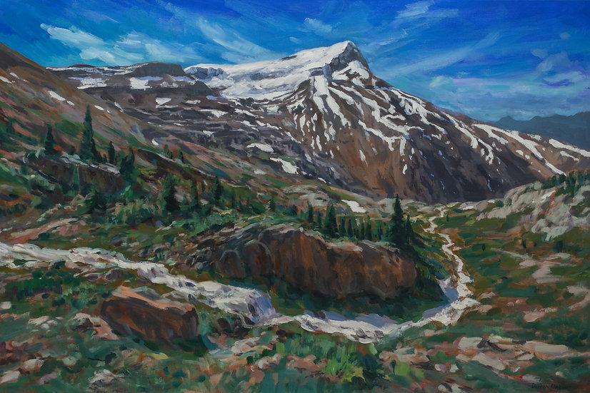 """Alpine Views of Mt. Andromache 24x36"""""""