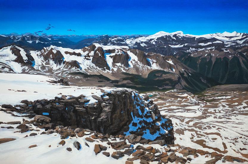 "Mistaya Mountain Precipice 24x36"""
