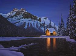 Twilight at Emerald Lake