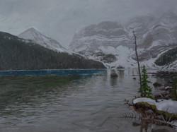 Flurries at Cirque Lake
