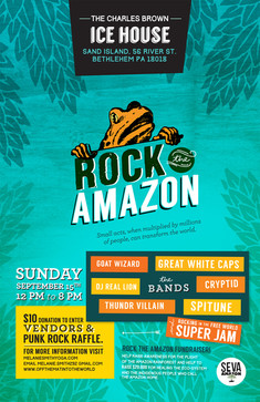 Ice House/Rock the Amazon Benefit Poster