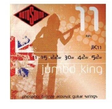 """Cuerdas para Guitarra Acústica """"ROTOSOUND"""" JK11"""