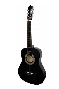 "Guitarra ""ROCIO"" C6N (1/4) Cadete 75 cms NEGRO"