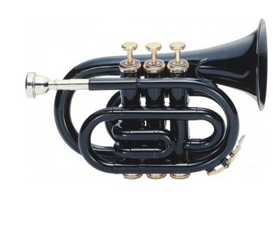 """Trompeta de Bolsillo """"J.MICHAEL"""" Negra"""