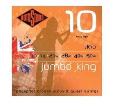 """Cuerdas para Guitarra Acústica """"ROTOSOUND"""" JK10"""