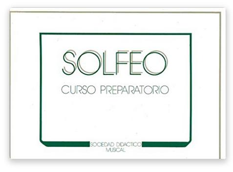 """Método de Solfeo """"SOCIEDAD DIDÁCTICO MUSICAL"""" Curso preparatorio"""