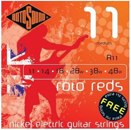 """Cuerdas para Guitarra Eléctrica """"ROTOSOUND"""" R11"""