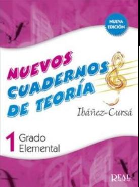 """Nuevos cuadernos de teoría, grado elemental 1º """"IBÁÑEZ CURSÁ"""""""