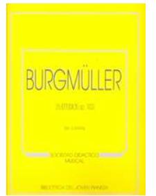 "25 estudios para piano, op.100 ""C.F.  PETERS BURGMÜLLER"""