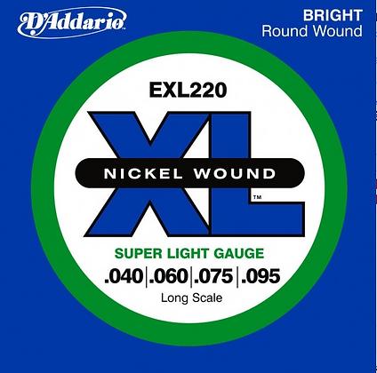 """Cuerdas para Bajo Eléctrico """"D´Addario"""" EXL-220"""