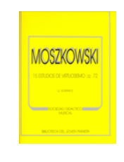 "15 Estudios de virtuosismo, Op.72  ""MOSZKOWSKI"""