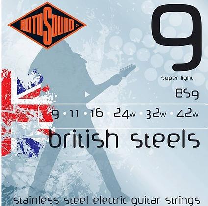 "Cuerdas para Guitarra Eléctrica ""ROTOSOUND"" BS9"