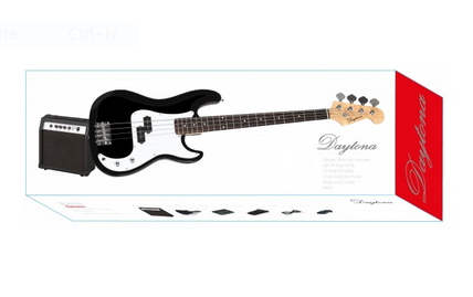 "Pack guitarra Bajo ""Daytona"" tipo Precission"