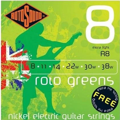 """Cuerdas para Guitarra Eléctrica """"ROTOSOUND"""" R8"""