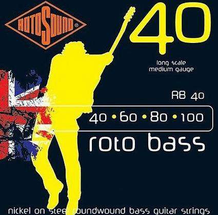 """Cuerdas para Bajo Eléctrico""""ROTOSOUND"""" RB 40"""