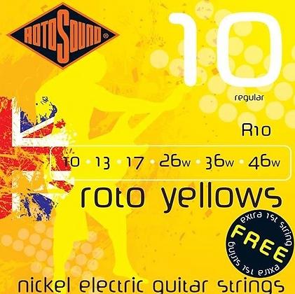 """Cuerdas para Guitarra Eléctrica """"ROTOSOUND"""" R10"""