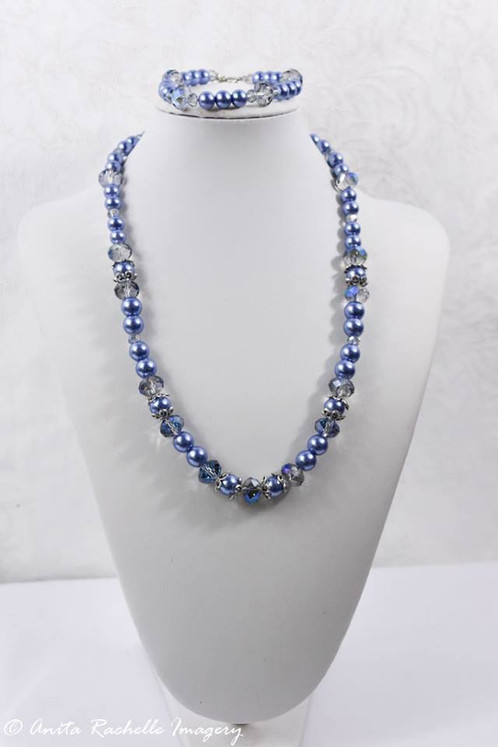 carm glass shell necklaces white blue and pearl necklace size