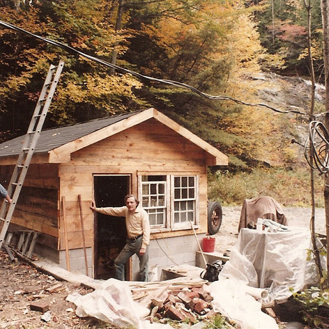 Edgar in the early 70's with the newly renovated generator house.