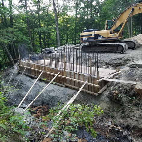 New footings and abutments were poured.