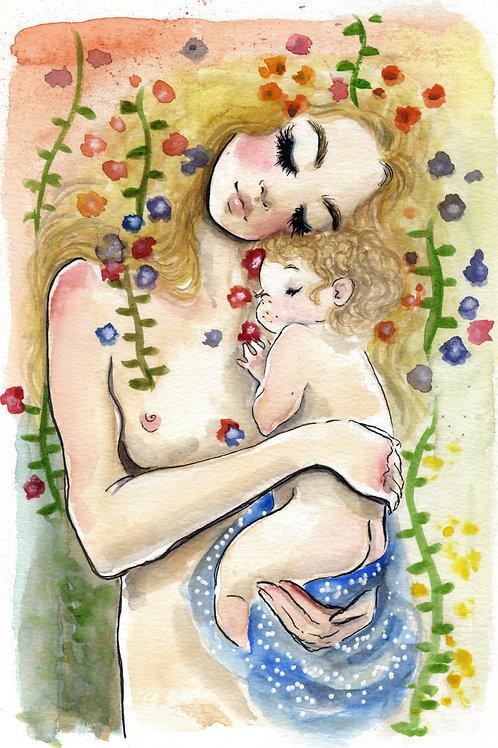 Mamae e eu IV - Print A4