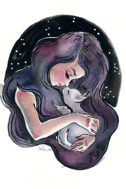 Mãe de Gatos - Print A4