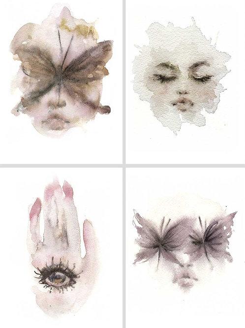 Watercolor Prints II - Kit de mini prints