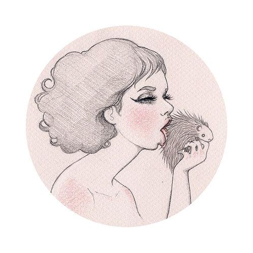 Porcupine Love - Print A4