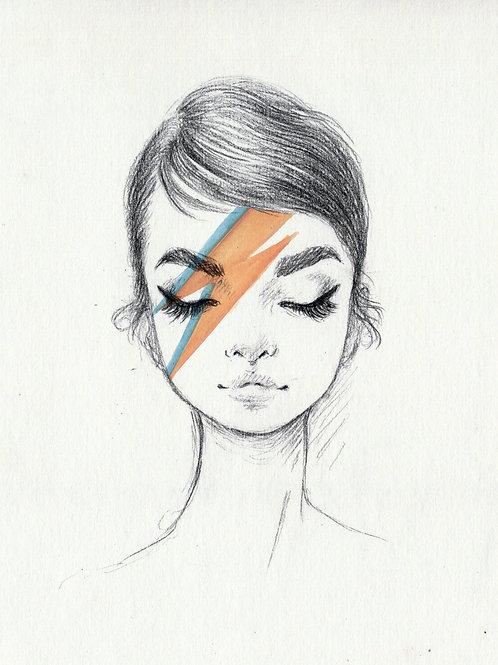 Audrey Bowie - Print A4