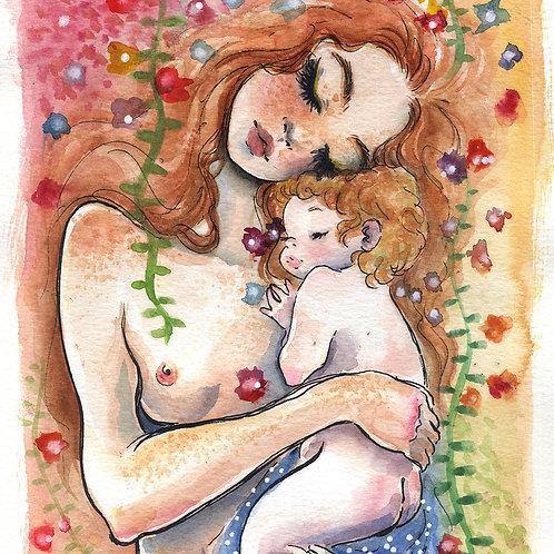 Mamae e eu V - Print A4