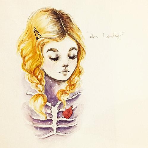 Clementine Kruczynski - Am I pretty? print